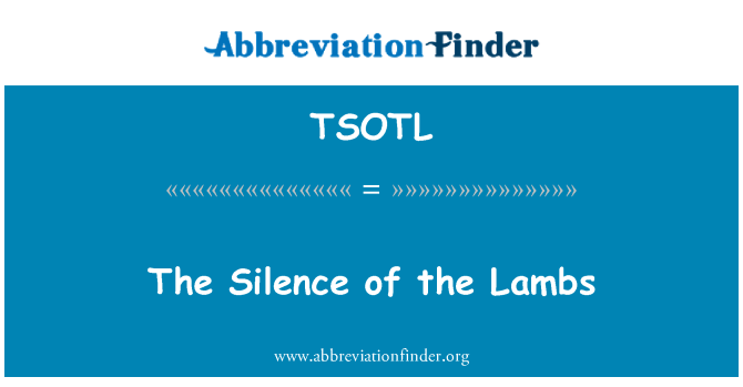 TSOTL: El silenci dels anyells