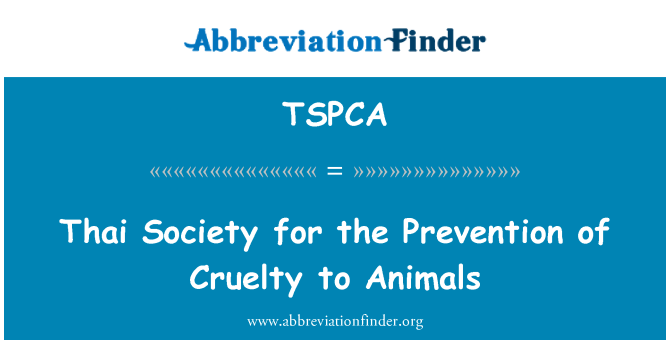 TSPCA: Thai Society for the Prevention of Cruelty to Animals