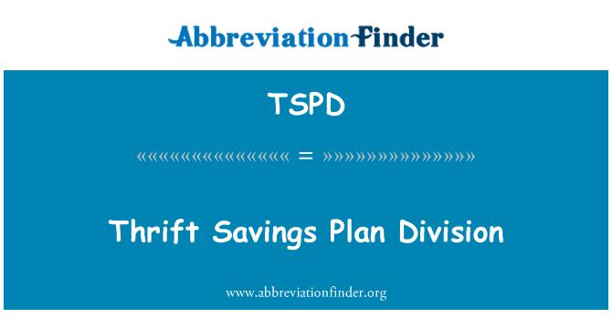 TSPD: Ahorro ahorro Plan de división