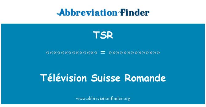 TSR: Télévision Suisse Romande