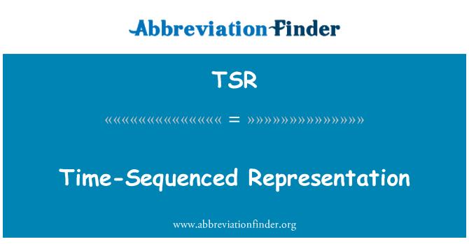 TSR: Time-Sequenced Representation