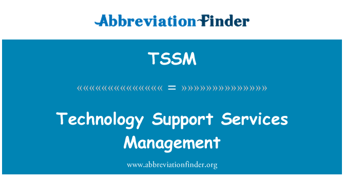 TSSM: Technology Support Services Management
