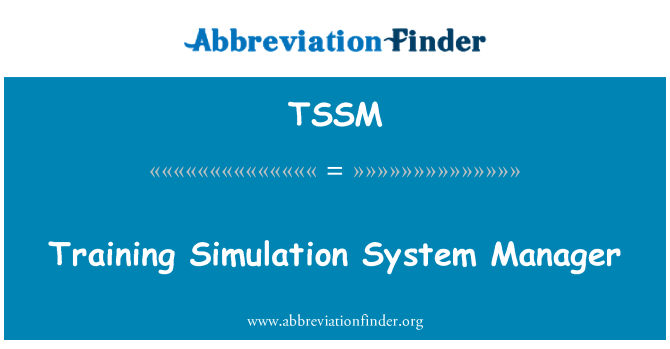 TSSM: Training Simulation System Manager
