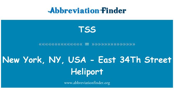 TSS: New York, NY, USA - East 34Th Street Heliport