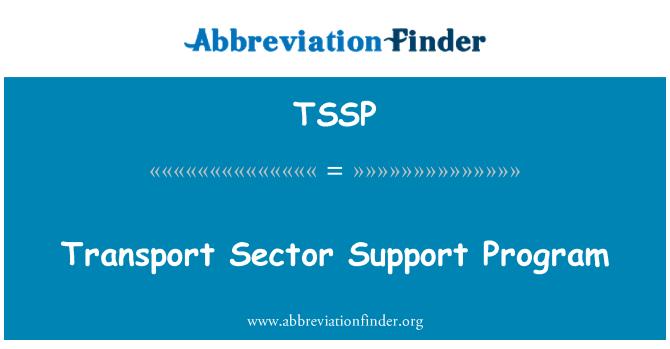 TSSP: Programa de apoyo del Sector transporte