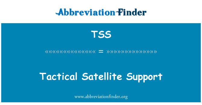 TSS: Tactical Satellite Support