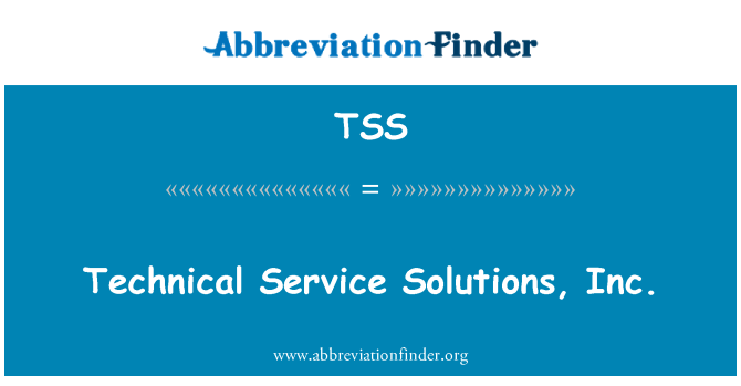 TSS: Technical Service Solutions, Inc.