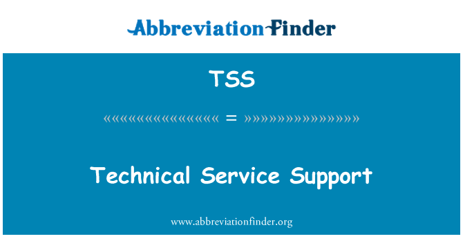 TSS: Technical Service Support