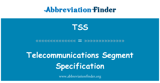 TSS: Telecommunications Segment Specification