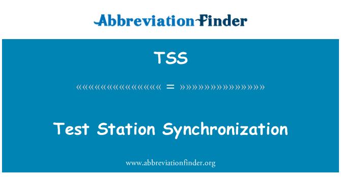 TSS: Test Station Synchronization