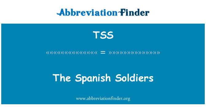 TSS: The Spanish Soldiers