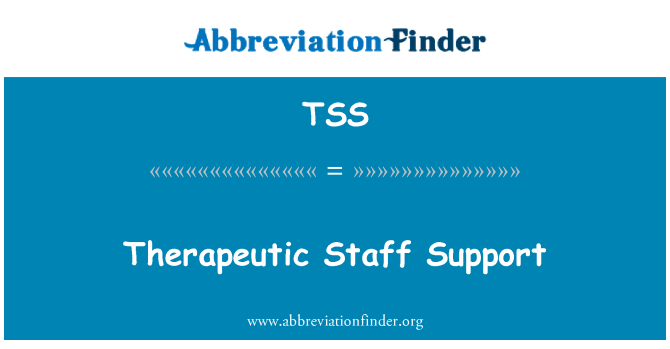 TSS: Therapeutic Staff Support