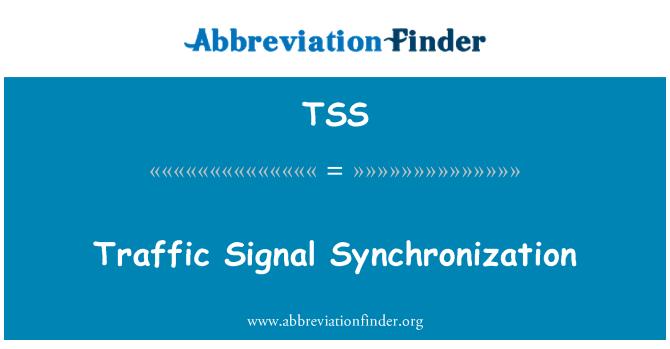 TSS: Traffic Signal Synchronization