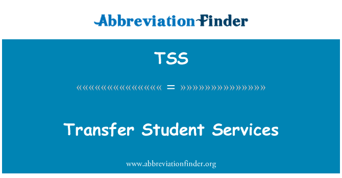 TSS: Transfer Student Services