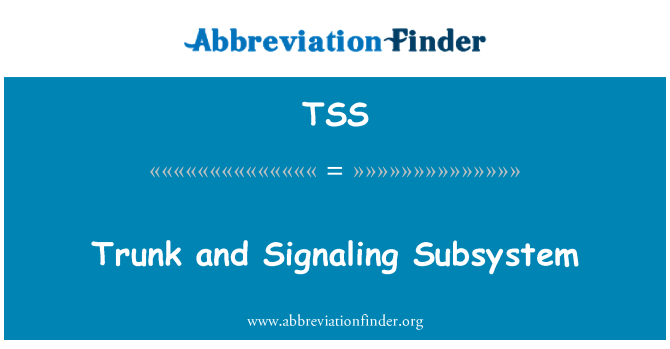TSS: Trunk and Signaling Subsystem