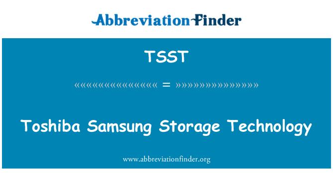 TSST: Toshiba Samsung Storage Technology
