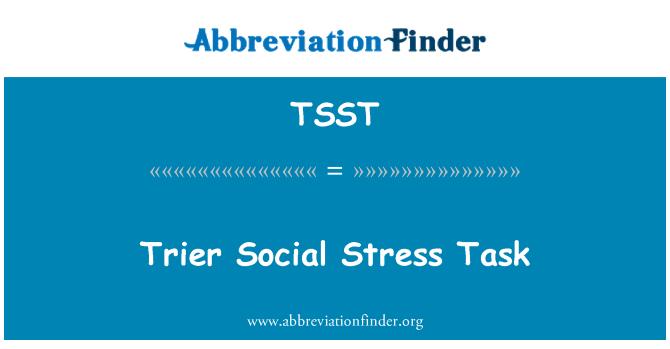 TSST: Trier estrés Social tarea