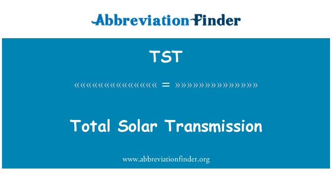 TST: Total Solar Transmission