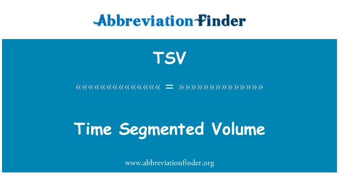 TSV: Time Segmented Volume