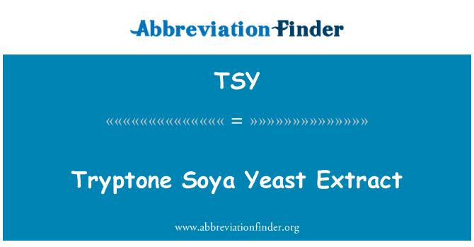 TSY: Tryptone Soya Yeast Extract
