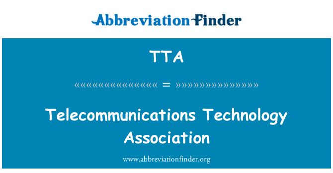 TTA: Telecommunications Technology Association