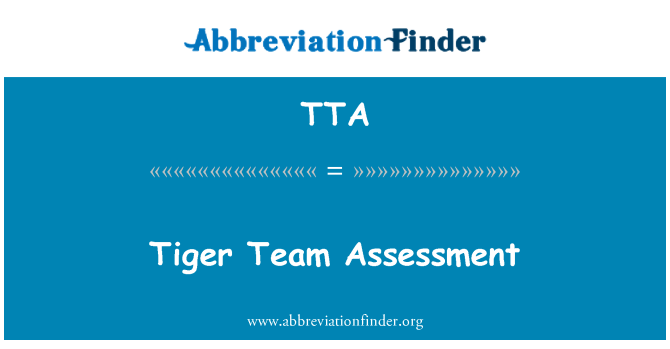 TTA: Tiger Team Assessment