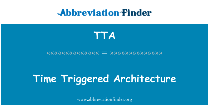 TTA: Time Triggered Architecture