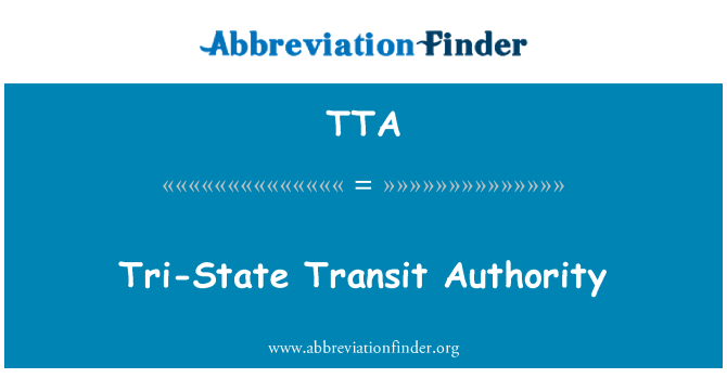 TTA: Tri-State Transit Authority