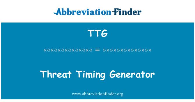 TTG: Threat Timing Generator