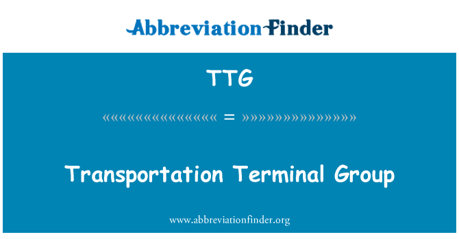 TTG: Transportation Terminal Group