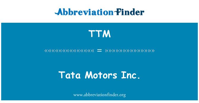 TTM: Tata Motors Inc.