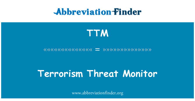 TTM: Terrorism Threat Monitor