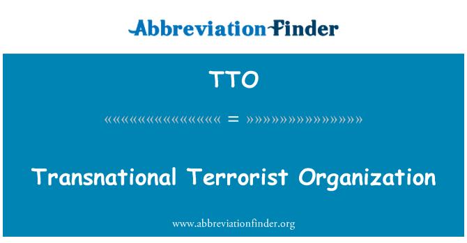 TTO: Transnational Terrorist Organization
