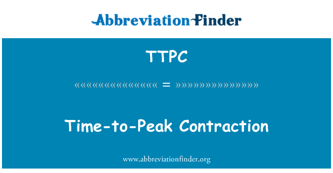 TTPC: Time-to-Peak Contraction