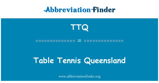 TTQ: Table Tennis Queensland