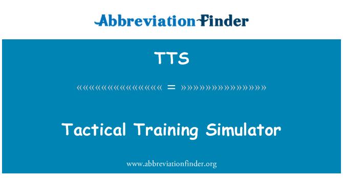 TTS: Tactical Training Simulator