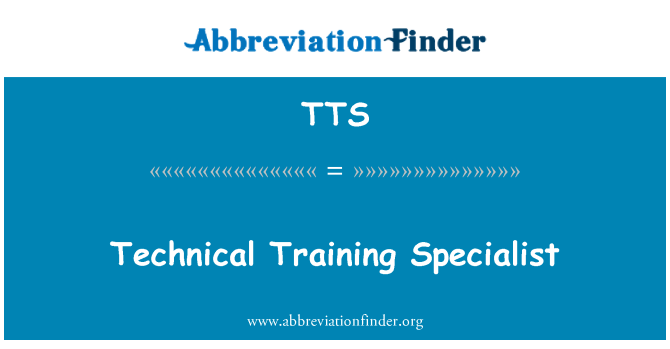 TTS: Technical Training Specialist