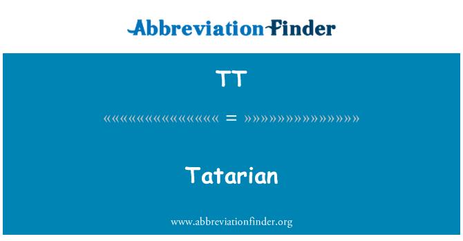 TT: Tatarian