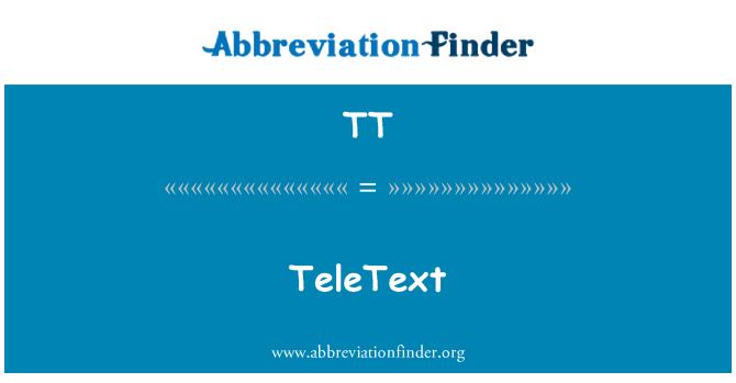 TT: TeleText