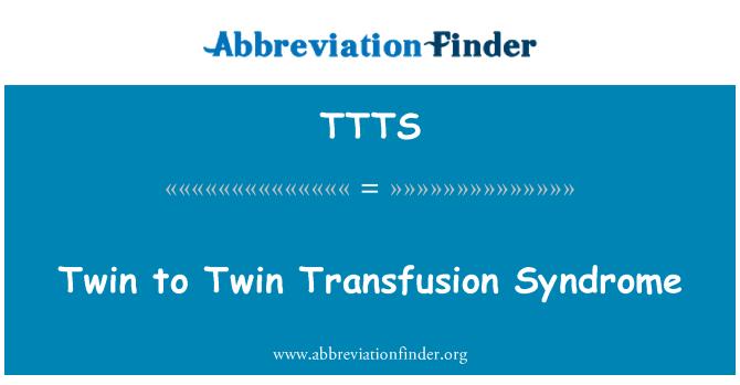 TTTS: Síndrome de transfusión gemelo a gemelo