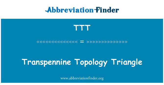 TTT: Transpennine Topology Triangle