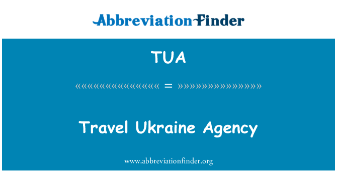 TUA: Travel Ukraine Agency