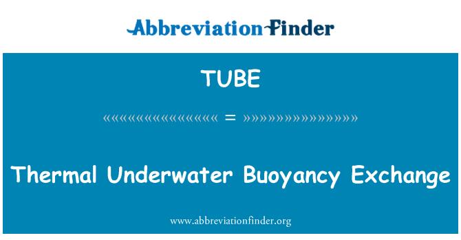 TUBE: Thermal Underwater Buoyancy Exchange