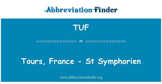 TUF: Tours, France - St Symphorien