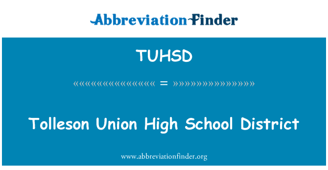 TUHSD: Tolleson Union High School District