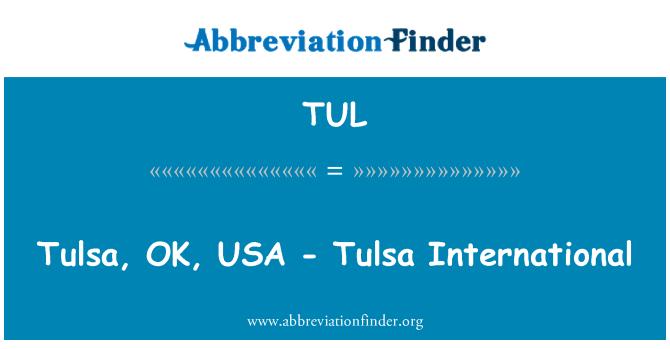 TUL: Tulsa, OK, USA - Tulsa International