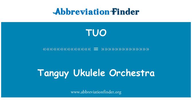 TUO: Tanguy Ukulele Orchestra