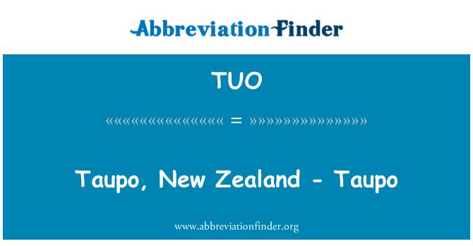 TUO: Taupo, New Zealand - Taupo