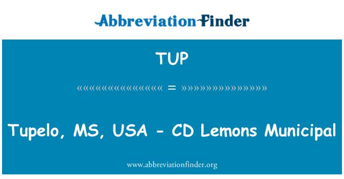 TUP: Tupelo, MS, USA - CD Lemons Municipal