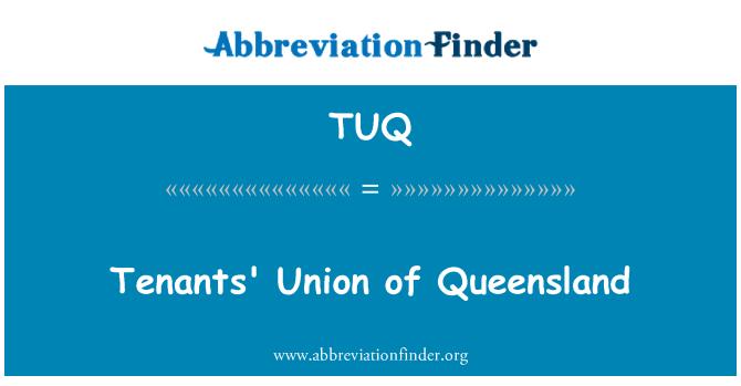 TUQ: Tenants' Union of Queensland